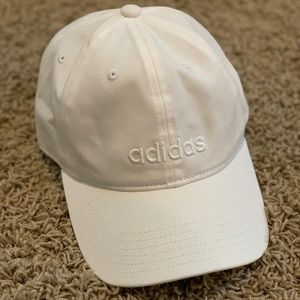 White Adidas Hat - New Without Tags